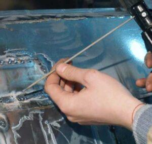 How to weld auto body sheet metal